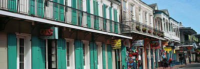 Buildings Along The Bourbon Street Print by Panoramic Images