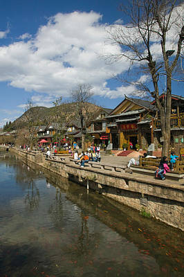 Enjoyment Photograph - Buildings Along Yu River Canal, Old by Panoramic Images