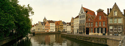 Belgium Photograph - Buildings At The Waterfront, Bruges by Panoramic Images