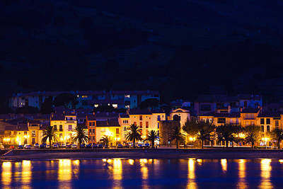 Buildings At The Waterfront, Collioure Print by Panoramic Images