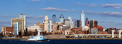 Philadelphia Scene Photograph - Buildings At The Waterfront, Delaware by Panoramic Images