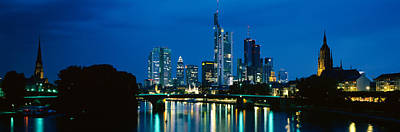 Hesse Photograph - Buildings At The Waterfront, Frankfurt by Panoramic Images