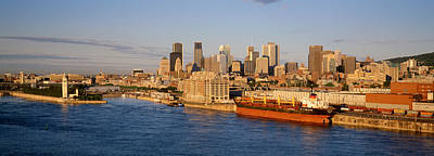 Montreal Cityscapes Photograph - Buildings At The Waterfront, Montreal by Panoramic Images