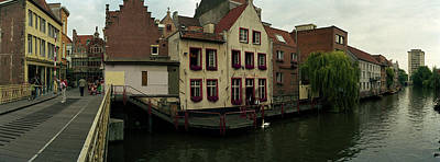 Belgium Photograph - Buildings At The Waterfront, Patershol by Panoramic Images