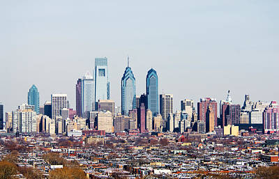 Philadelphia Scene Photograph - Buildings In A City, Comcast Center by Panoramic Images