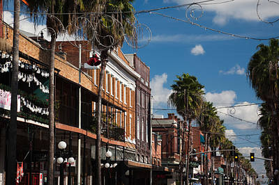 Ybor City Photograph - Buildings In A City, La Septima, East by Panoramic Images