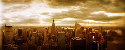 Empire State Photograph - Buildings In A City, Manhattan, New by Panoramic Images