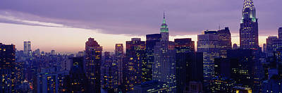 Empire State Photograph - Buildings In A City, Manhattan, Nyc by Panoramic Images