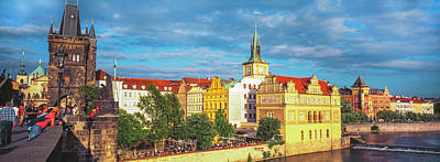 Buildings In A City, Prague, Czech Print by Panoramic Images