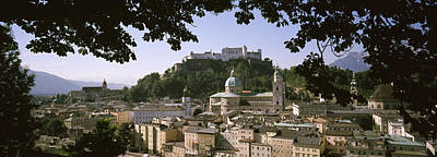 Rooftop Photograph - Buildings In A City, Salzburg, Austria by Panoramic Images
