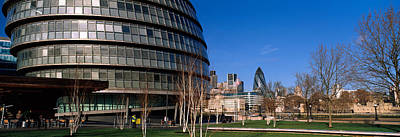 Gherkin Photograph - Buildings In A City, Sir Norman Foster by Panoramic Images