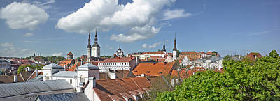 Rooftop Photograph - Buildings In A City, St Olafs Church by Panoramic Images