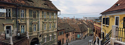 Romania Photograph - Buildings In A City, Town Center, Big by Panoramic Images