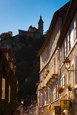 Window Signs Photograph - Buildings In A Town, Rocamadour, Lot by Panoramic Images