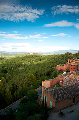 Rooftop Photograph - Buildings In A Town, Roussillon by Panoramic Images