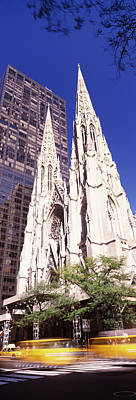 St. Patricks Cathedral Photograph - Buildings In The City, St. Patricks by Panoramic Images