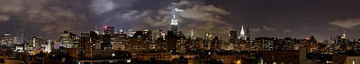 Empire State Photograph - Buildings Lit Up At Night, Empire State by Panoramic Images