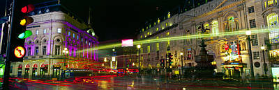 Buildings Lit Up At Night, Piccadilly Print by Panoramic Images