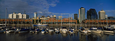 Reflections Of Sky In Water Photograph - Buildings On The Waterfront, Puerto by Panoramic Images