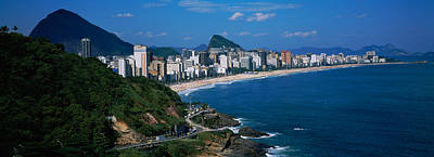 Ipanema Beach Photograph - Buildings On The Waterfront, Rio De by Panoramic Images
