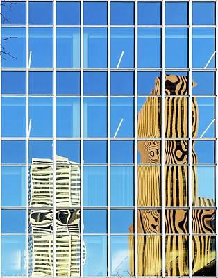 Buildings Reflected In Glass Print by Wladimir Bulgar