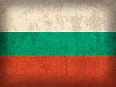 Bulgaria Flag Vintage Distressed Finish Print by Design Turnpike