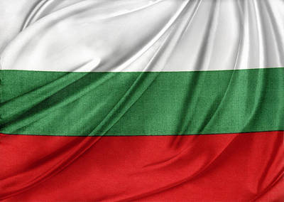 Waving Flag Photograph - Bulgarian Flag by Les Cunliffe