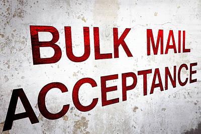 Bulk Mail Acceptance Print by Sennie Pierson