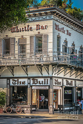 Multi Colored Photograph - Bull And Whistle Key West - Hdr Style by Ian Monk