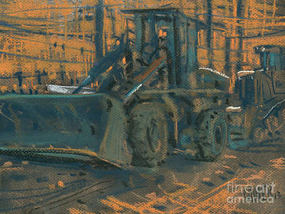 Construction Painting - Bull Dozer by Donald Maier