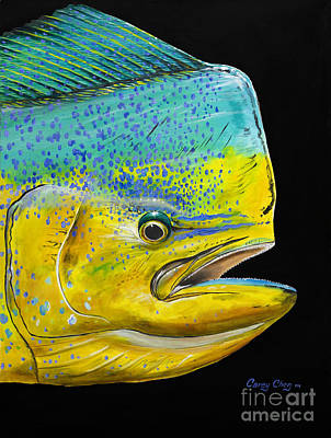 Tropical Fish Painting - Bull Head Off0033 by Carey Chen