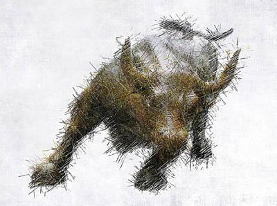 Bull Digital Art - Bull Market by Daniel Hagerman