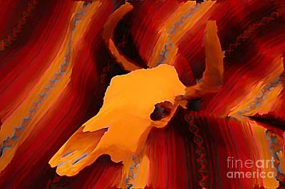 Bull Skull Two Print by John Malone
