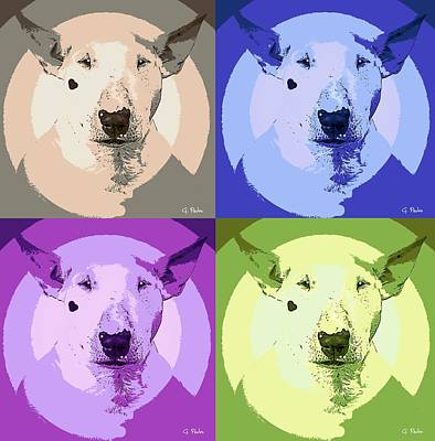 Bull Terrier Pop Art Print by George Pedro