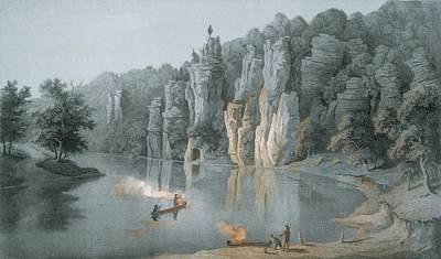 Virginia Drawing - Bullard Rock On The New River by Edward Beyer