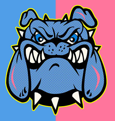 Bulldog Art Digital Art - Bulldog 5 by Mark Ashkenazi