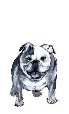 Bulldog  Print by Barbara Marcus