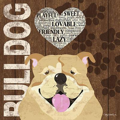 Bulldog Love Print by Kathy Middlebrook