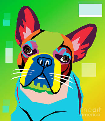 Bulldog Art Digital Art - Bulldog  by Mark Ashkenazi