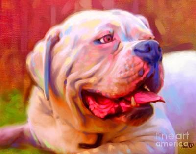 Bulldog Portrait Print by Iain McDonald