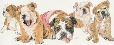 Bulldog Puppies Print by Barbara Keith