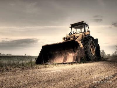 Bulldozer Print by Sinisa Botas