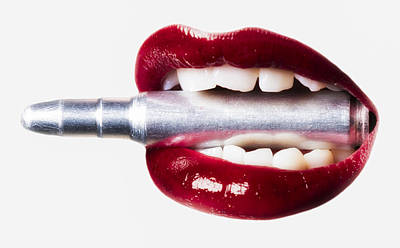 Bullet Lips Red Edition Print by Erik Brede