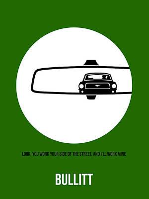 Bullitt Drawing - Bullitt Poster 2 by Naxart Studio