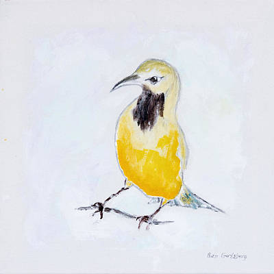 Wild Orchards Painting - Bullock's Oriole No 2 by Ben and Raisa Gertsberg