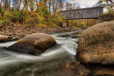 Southern New England Photograph - Bulls Bridge Autumn by Bill Wakeley