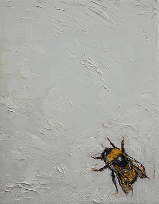 Bumblebees Painting - Bumblebee by Michael Creese
