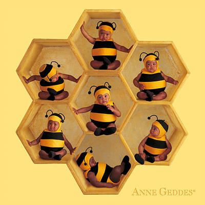 Fine Art Photograph - Bumblebees by Anne Geddes