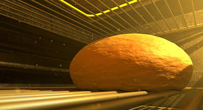 Shelf Digital Art - Bun In The Oven Closeup by Allan Swart