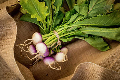 Turnips Photograph - Bunch Of Turnips by Aberration Films Ltd